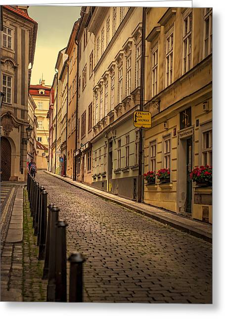 Book Cover Art Greeting Cards - Walks along the Old Streets of Prague Greeting Card by Jenny Rainbow