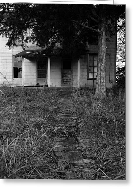 Abandoned House Greeting Cards - Walkway II Greeting Card by Off The Beaten Path Photography - Andrew Alexander