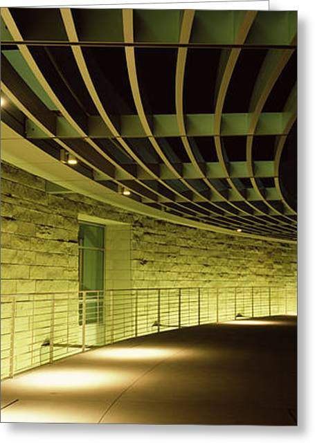 Silicon Greeting Cards - Walkway Of A City Hall, San Jose City Greeting Card by Panoramic Images