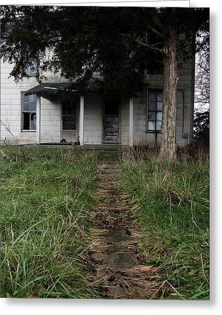 Abandoned House Greeting Cards - Walkway Greeting Card by Off The Beaten Path Photography - Andrew Alexander