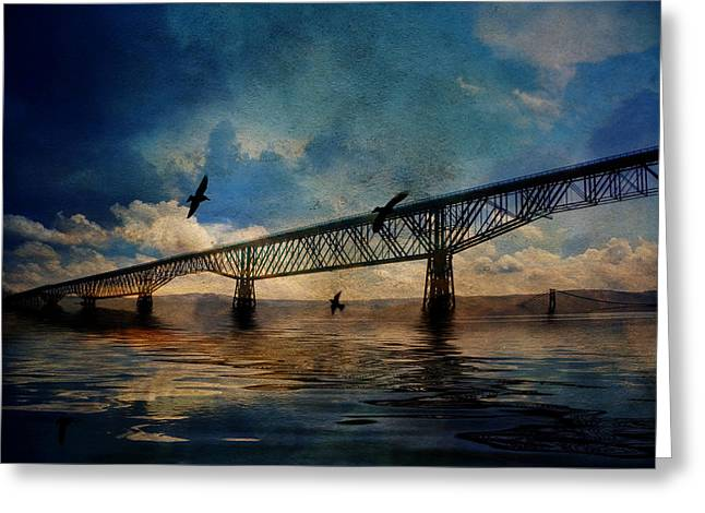 Historical Images Greeting Cards - Walkway over the Hudson Greeting Card by Pamela Phelps