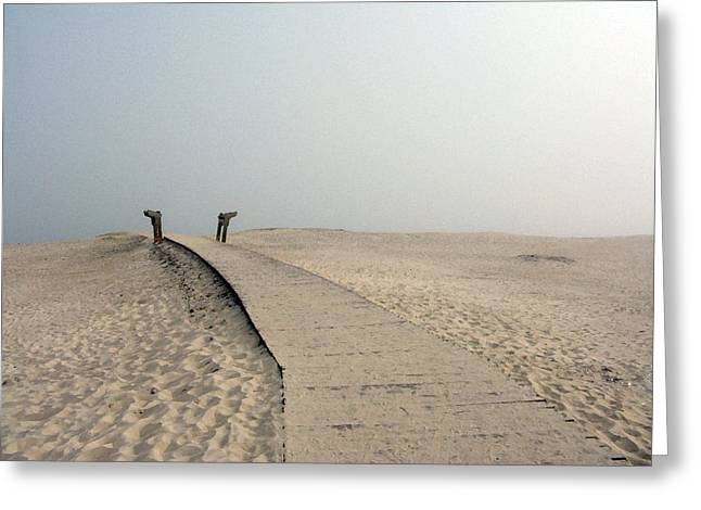 Walkway To Thoughts Greeting Card by Patricia Januszkiewicz