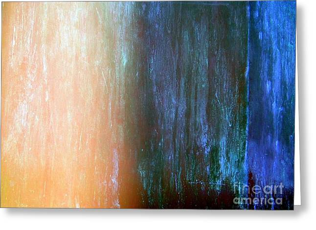 Wall Abstract Greeting Card by Ed Weidman