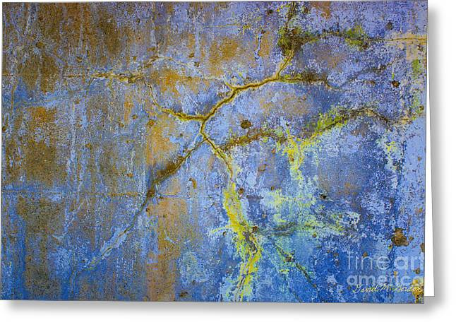 Chromatic Digital Greeting Cards - Wall Abstraction I Greeting Card by David Gordon