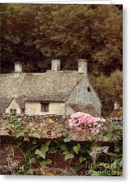 Wall And Cottages Greeting Card by Jill Battaglia