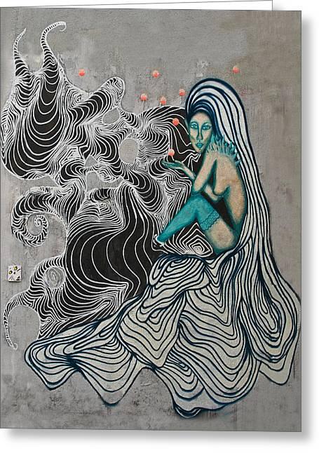 Hair Abstract Art Greeting Cards - Wall-art Greeting Card by Joachim G Pinkawa