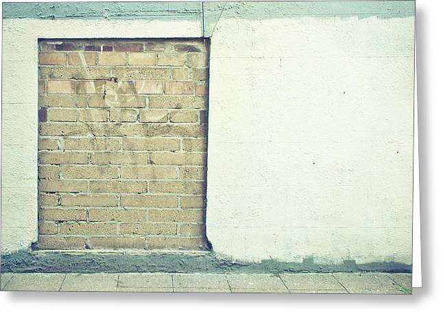 Gaps Greeting Cards - Wall background Greeting Card by Tom Gowanlock
