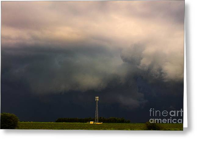 Canadian Prairie Landscape Greeting Cards - Wall Cloud Greeting Card by Francis Lavigne-Theriault