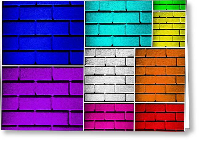 Geometric Effect Photographs Greeting Cards - Wall Color Wall Greeting Card by Semmick Photo