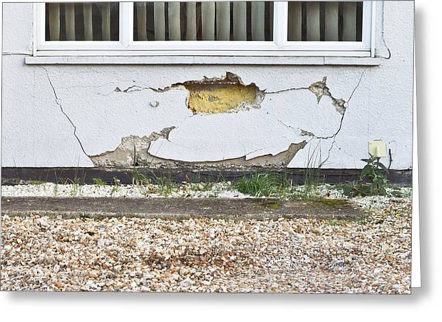 Mishap Greeting Cards - Wall damage Greeting Card by Tom Gowanlock
