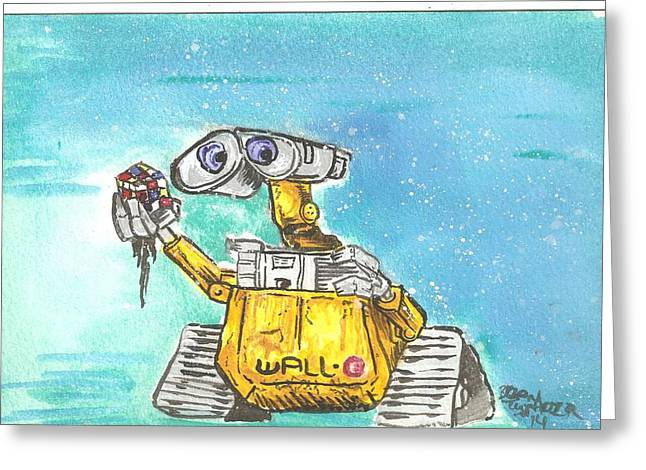 Animation Drawings Greeting Cards - Wall-E Greeting Card by Brian Typhair