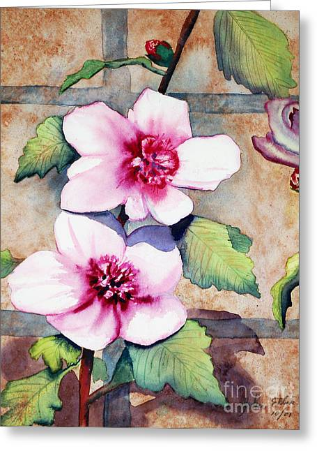 Wall Flowers Greeting Card by Flamingo Graphix John Ellis
