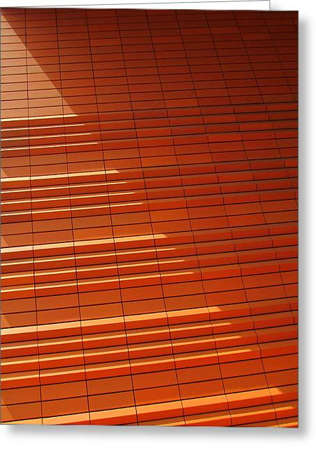 Mario Botta Botta Greeting Cards - Wall In Shadow Greeting Card by Randall Weidner