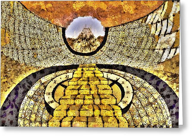 Bred Mixed Media Greeting Cards - Wall In The Wall Hours Greeting Card by Yury Bashkin