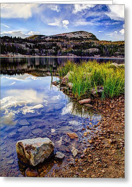 Southwest Greeting Cards - Wall Lake Greeting Card by Chad Dutson