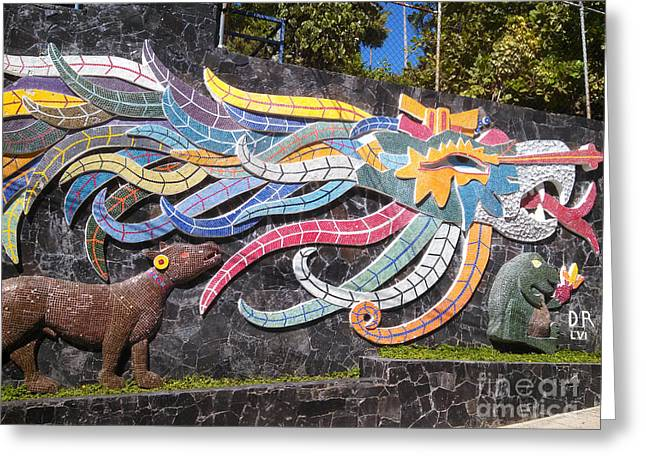 Geobob Greeting Cards - Wall Mural in Mosaic by Diego Rivera Acapulco Mexico Greeting Card by Robert Ford