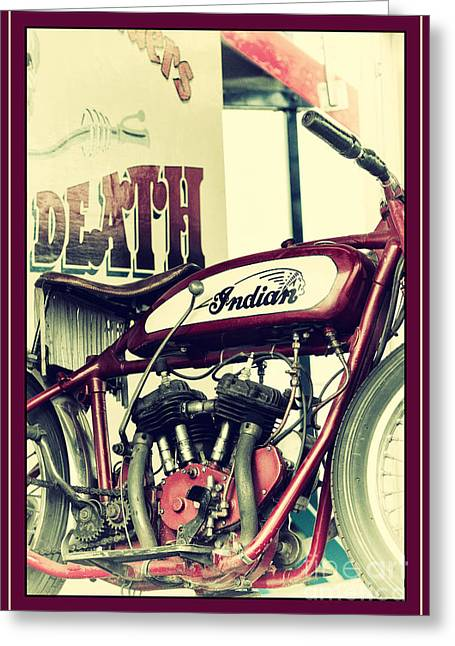 Tim Greeting Cards - Wall of Death Greeting Card by Tim Gainey