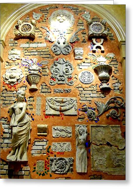 Wall Sculpture Sculptures Greeting Cards - Wall Of Sculpture Greeting Card by Randall Weidner