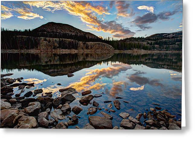 Scenic Greeting Cards - Wall Reflection Greeting Card by Chad Dutson
