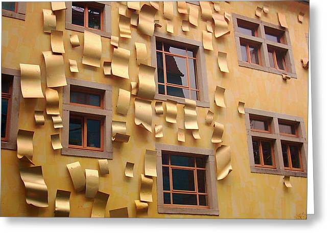 Dresden Greeting Cards - Wall Sculpture in Dresden Greeting Card by Mountain Dreams