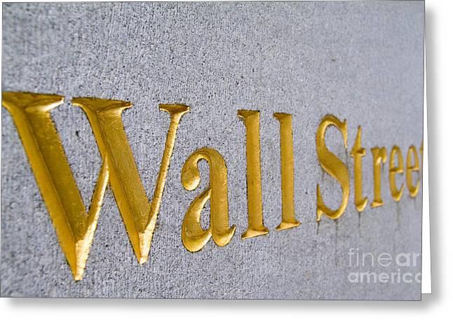 Wall Street Greeting Cards - Wall Street Greeting Card by Bill Bachmann