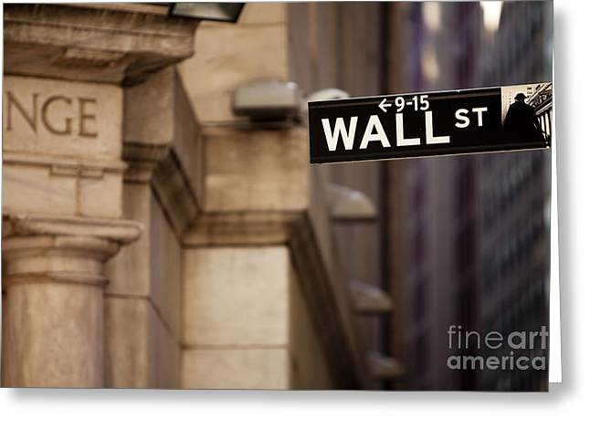 Wall Street Greeting Cards - Wall Street Greeting Card by Brian Jannsen