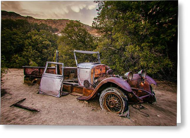 Wall Street Mine Pickup Greeting Card by Peter Tellone