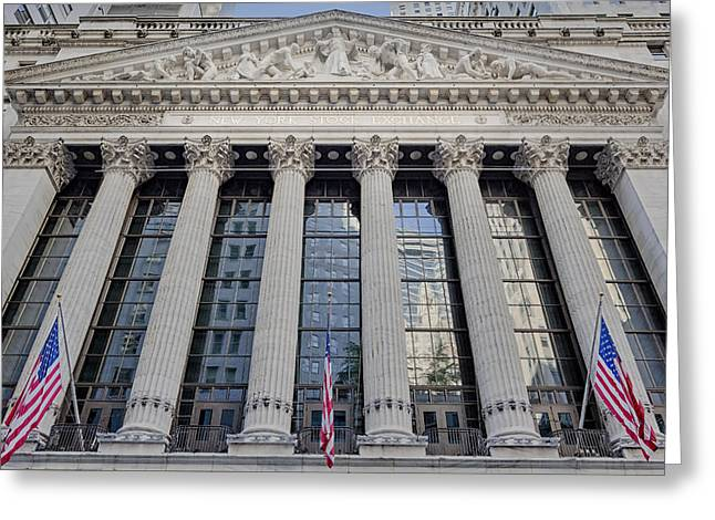 Wall Street New York Stock Exchange Nyse  Greeting Card by Susan Candelario