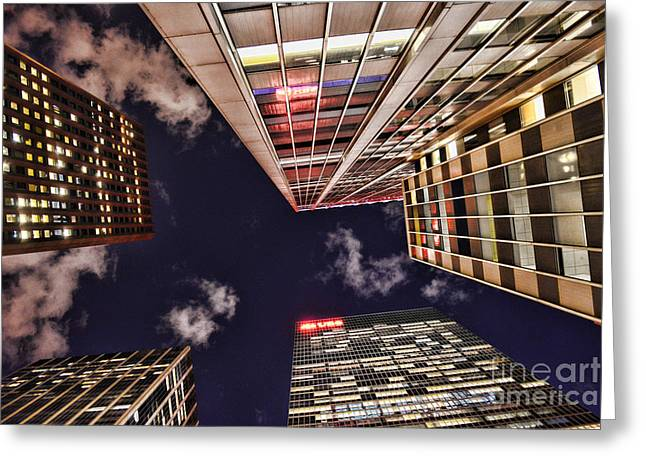 Office Space Greeting Cards - Wall Street Greeting Card by Paul Ward