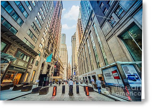 Bollard Greeting Cards - Wall Street Greeting Card by Ray Warren