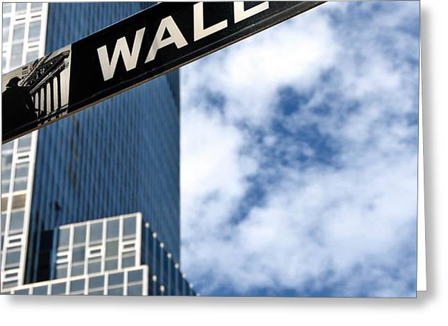 Wall Street Street Sign New York City Greeting Card by Amy Cicconi