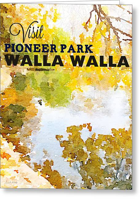 Retro Typography Greeting Cards - Walla Walla Greeting Card by Linda Woods