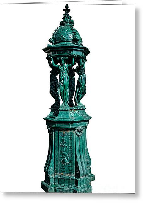 Drinking Water Greeting Cards - Wallace Fountain  Greeting Card by Olivier Le Queinec