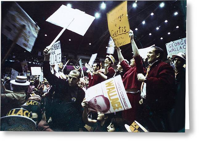 Political Rally Greeting Cards - Wallace Rally chicago Greeting Card by Serge Seymour
