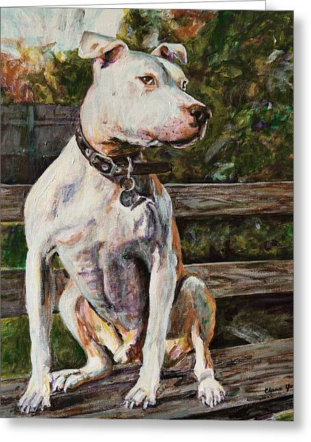 Pet Greeting Cards - Wallace the Great Greeting Card by Clara Yori