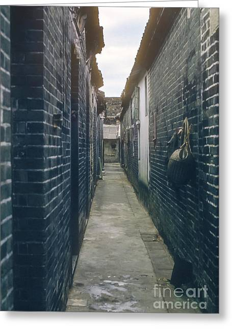 Kowloon Greeting Cards - Walled City Pathway Greeting Card by Bob Phillips