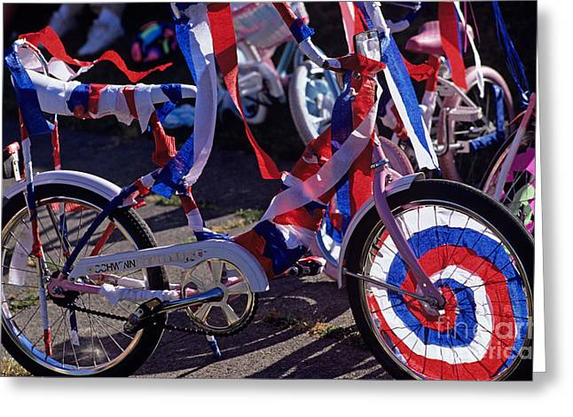 Festivities Greeting Cards - Wallingford Kiddie Parade Greeting Card by Jim Corwin