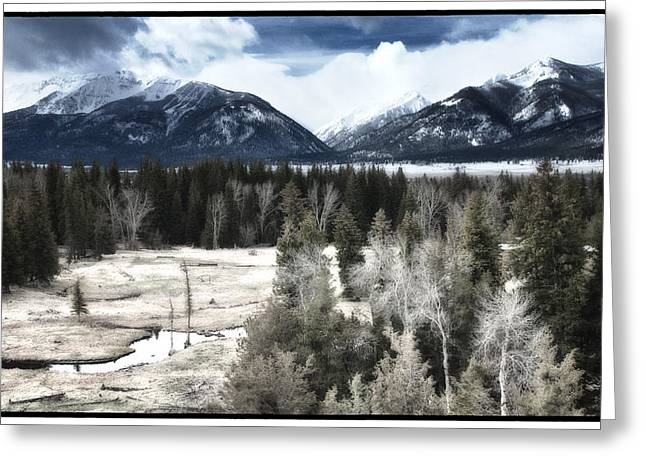 Enterprise Digital Art Greeting Cards - Wallowa Valley and Mountains Greeting Card by Adele Buttolph