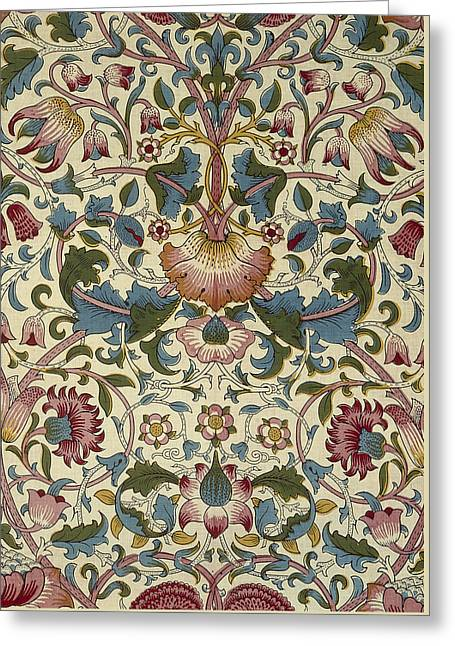 Tapestry Tapestries - Textiles Greeting Cards - Wallpaper Design Greeting Card by William Morris