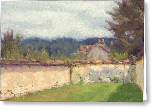 Paysage A L Greeting Cards - Walls of Thomery - Murs de Thomery Greeting Card by David Ormond
