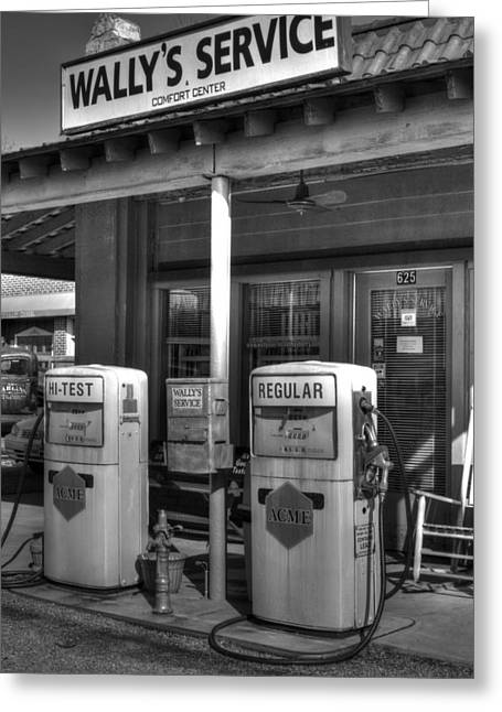 Mt. Airy Greeting Cards - Wallys Service Station Greeting Card by Michael Eingle