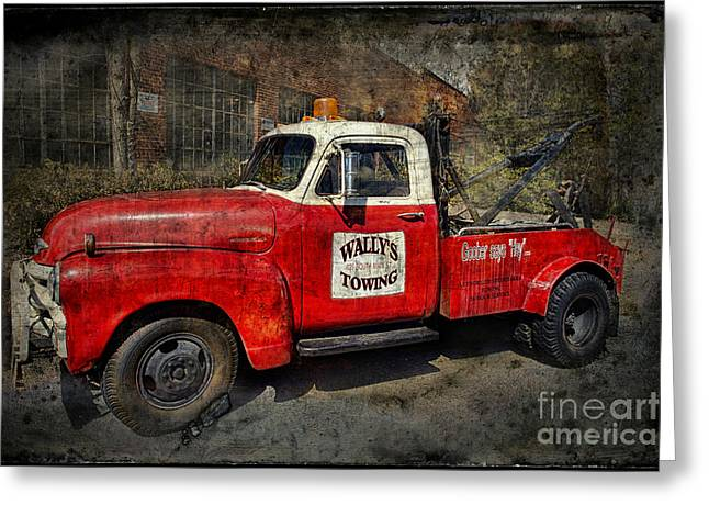 Andy Griffith Show Greeting Cards - Wallys Towing Greeting Card by David Arment