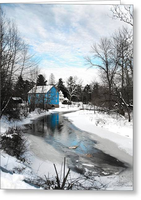 Grist Mill Mixed Media Greeting Cards - Walnford Mill Greeting Card by Ericka O