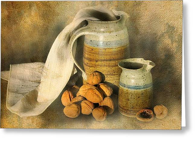 Pottery Pitcher Greeting Cards - Walnut Grove Greeting Card by Diana Angstadt