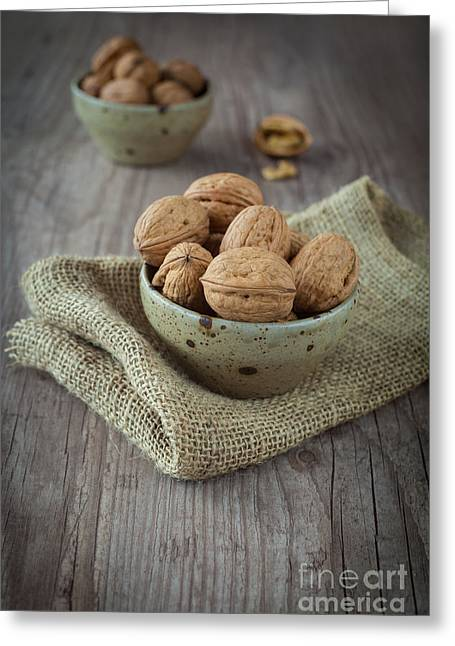 Wooden Bowl Greeting Cards - Walnut Greeting Card by Sabino Parente