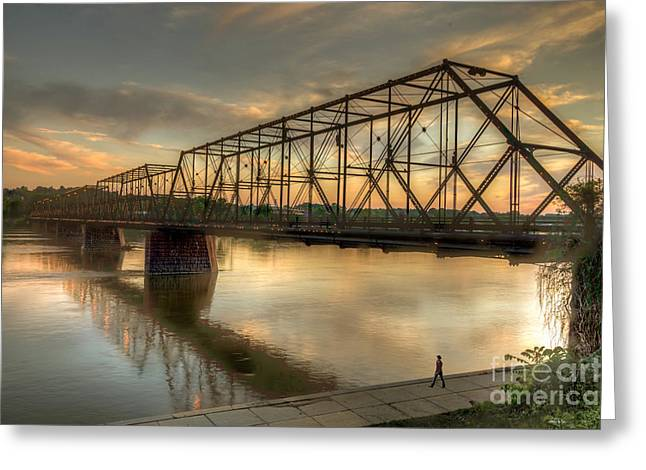 Steve Miller Greeting Cards - Walnut Steet Brige  Greeting Card by Steve Miller