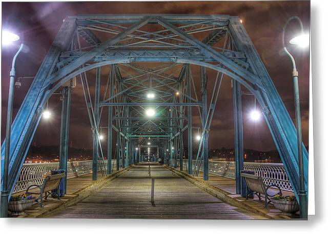 Recently Sold -  - Tennessee River Greeting Cards - Walnut Street Bridge 1 Greeting Card by Dale Wilson