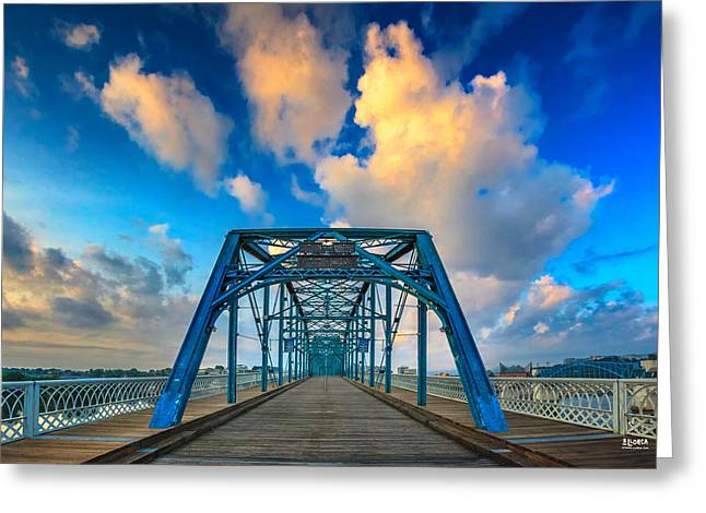 Tn River Greeting Cards - Walnut Street Walking Bridge Greeting Card by Steven Llorca