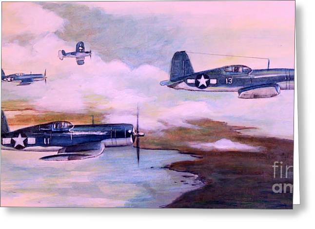 Division Paintings Greeting Cards - Walshs Flight Color Study Greeting Card by Stephen Roberson
