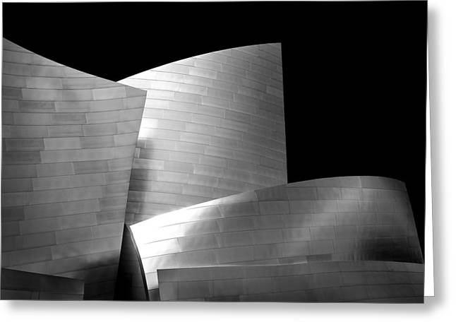 Hall Photographs Greeting Cards - Walt Disney Concert Hall 1 Greeting Card by Az Jackson